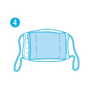 マスクが大きい時はシートを広げてから半分に折ってセットしてください